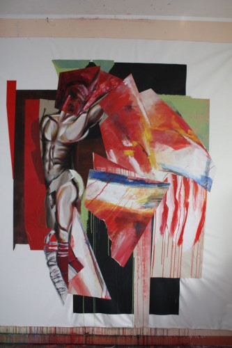 art,peinture,image,photographie,corps,nu,guerrier