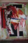 art,peinture,image,corps,nu guerrier,
