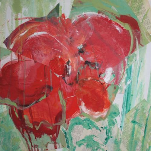 art,peinture,image,photographie,collage,fleur,coquelicot