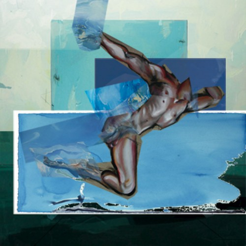 art,peinture,image,photographie,collage,baigneur,