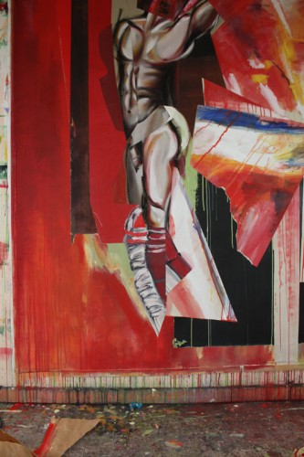 art,peinture,image,photographie,collage,corps,nu,guerrier