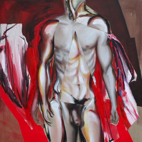 art,peinture,image,photographie,corps,nu,drapé,rouge,érotisme,indigné