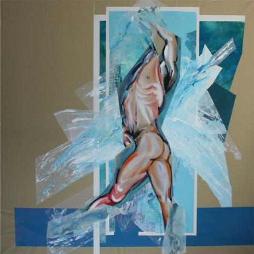 art,peinture,collage,image,corps,nu,baigneur