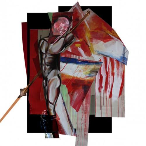art,peinture,image,corps,nu,guerrier,photographie,exposition,