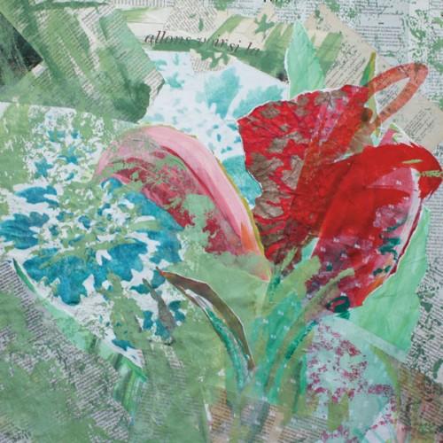 art,peinture,image,collage,fleur