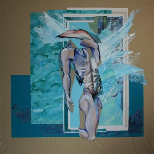 art,peinture,image,corps,nu,baigneur,Bigger splash,