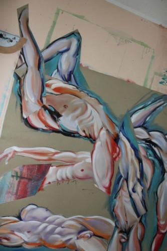 art,peinture,image,collage,corps,nu,baigneurs