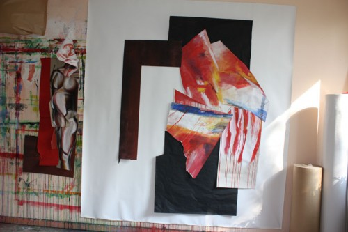 art,peinture,image,photographie,collage,corps,nu,guerrier
